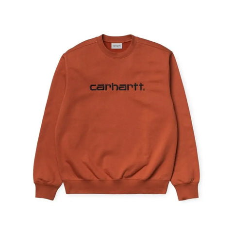 Carhartt Embroidered Logo Sweat Cinnamon/Black
