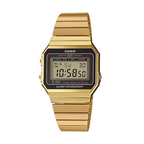Casio A700WG-9A DIG Gents Digital Gold S/Steel