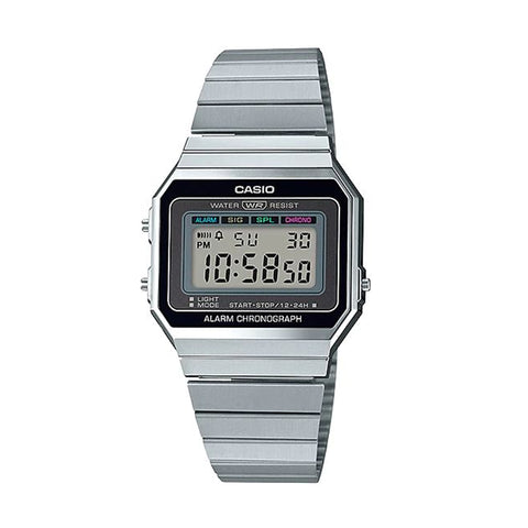 Casio A700W-1A DIG Gents Digital S/Steel
