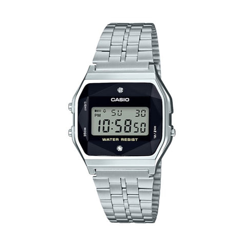 Casio Vintage Steel Black LCD A159WAD-1DF