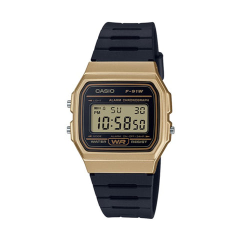 Casio Vintage Black/Gold F91WM-9A