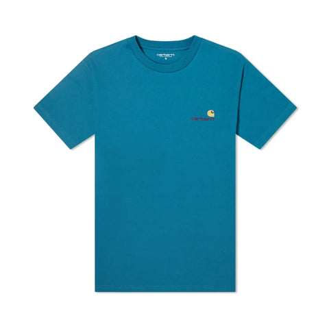 Carhartt American Script Embroidered Tee Moody Blue