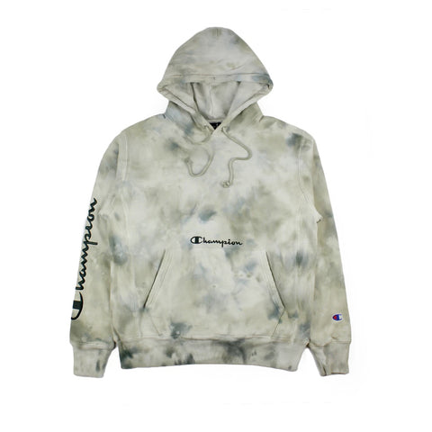 Champion Reverse Weave Cloud Dye Hoodie Army Green
