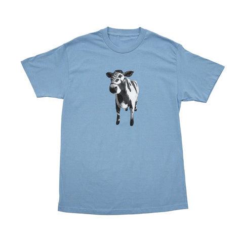 Bronze 56k Cow Tee Carolina Blue