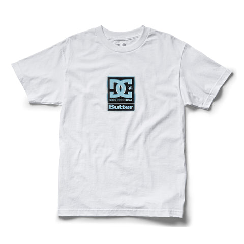 DC X Butter Goods BG Badge Tee White