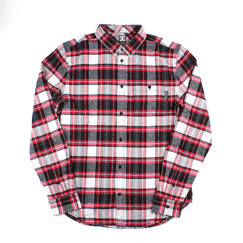 DC Northboat Longsleeve Flannel Tango Red