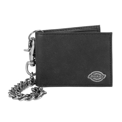 Dickies Leather Chain Wallet Black