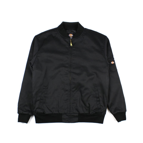 Dickies Knox Bomber Lined Team Jacket Black