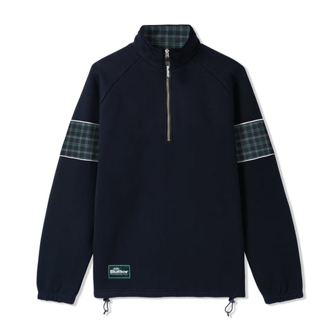 Butter Goods Parks 1/4 Zip Pullover Dark Navy