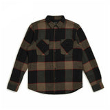 Brixton Bowery Longsleeve Flannel Heather Grey Charcoal