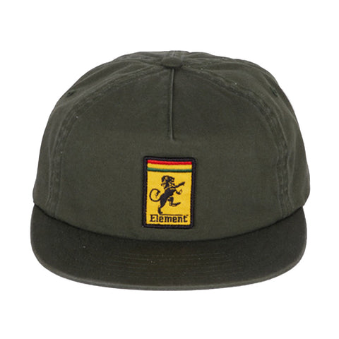Element Jah Sports Strap Back Cap Green Ivy