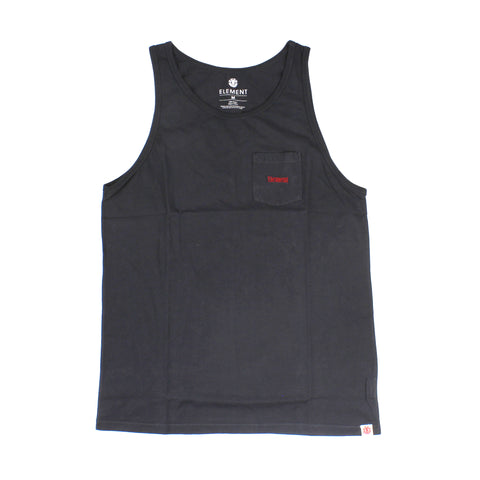 Element City Singlet Black Rinse