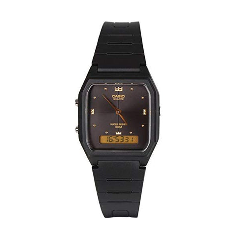 Casio Duo Black/Black/Gold AW48HE-1A