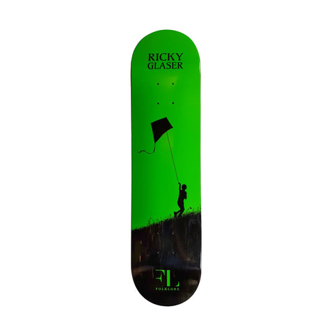 Folklore Warm Press Ricky Kite Deck Green 8.5