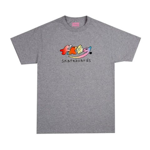 Frog Dino Logo Tee Athletic Grey