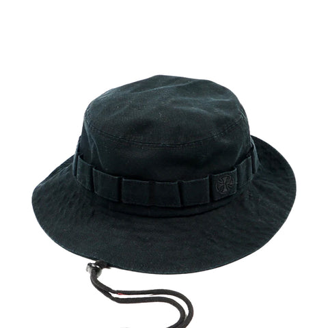 Independent Cross Boonie Hat Black