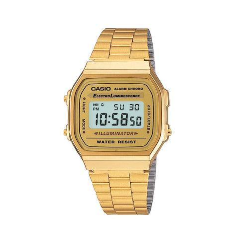 Casio Watch Gents Digital Gold Tone A168WG-9