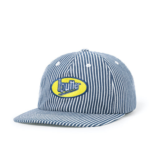 Butter Goods Work 6 Panel Cap Hickory Stripe