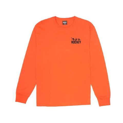 Hockey Fall Guy Longsleeve Tee Orange Sale