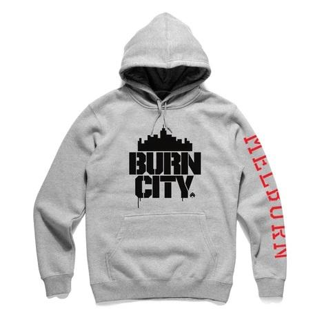 Burn City Hood Grey