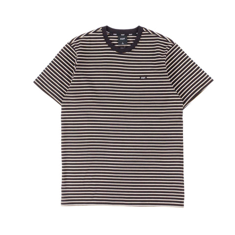 Huf Davis Striped Knit Tee Black