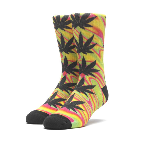 Huf Good Trip Plantlife Socks Blazing Yellow