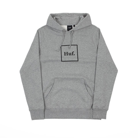 HUF Box Logo P/O Hoodie Grey Heather