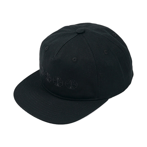 Independent Chain Cross Snapback Black