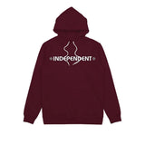 Independent Bar Cross Hood Dark Cardinal