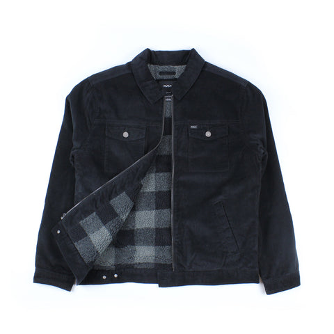 RVCA Easy Trucker II Cord Jacket Black
