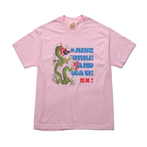 Smile + Wave Just Do Tee Pink