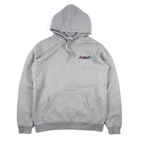 Locality Flag Embroidered Hood Grey