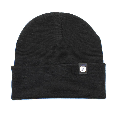 Locality Shield Cuff Beanie Black