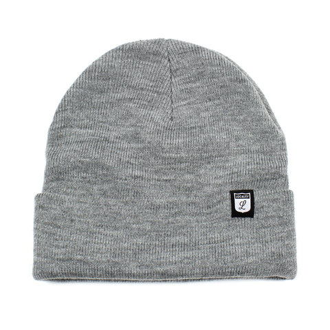Locality Shield Cuff Beanie Grey Marle