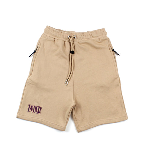 Mild Stencil Logo Shorts Natural