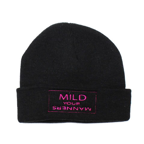Mild Your Manners Beanie Black