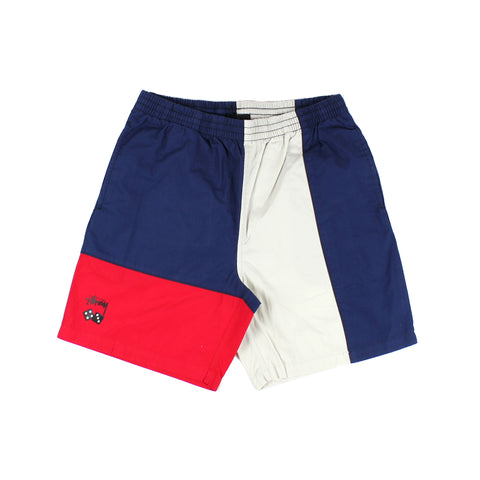 Stussy Roll The Dice Panel Beachshort Navy/Red Sale