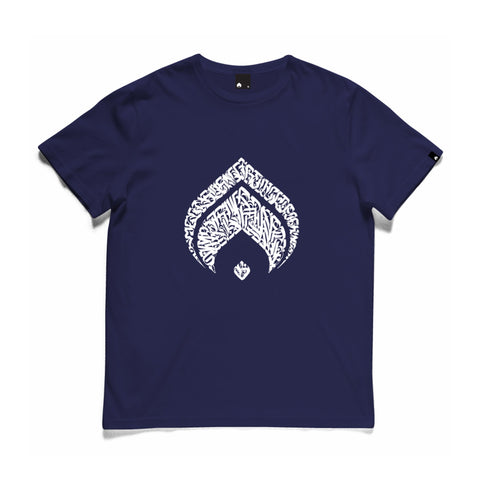 Burn Calligraphy Logo 2020 Tee Navy