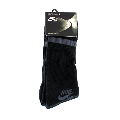 Nike SB Crew Sock 3 Pack Black