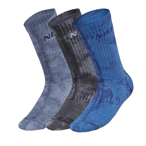 Nike Everyday Max Lightweight Skate Crew Socks Washed Blue/Black/Grey