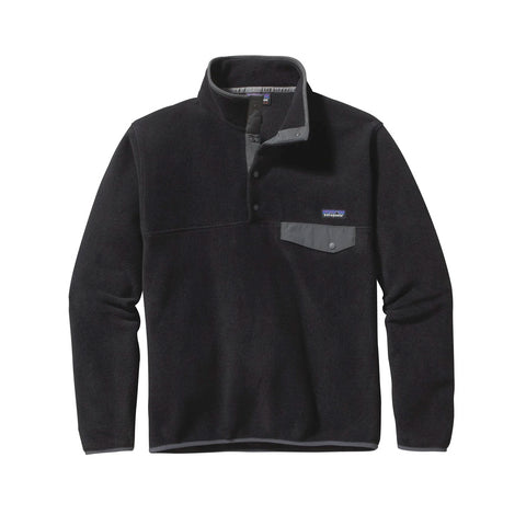 Patagonia M's LW Synch Snap T PO  Black w/Forge Grey