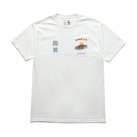 Smile + Wave Platypus World T-Shirt White