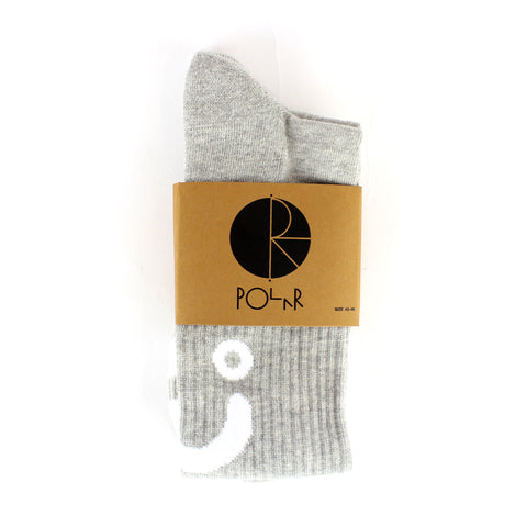 Polar Happy Sad Socks Grey