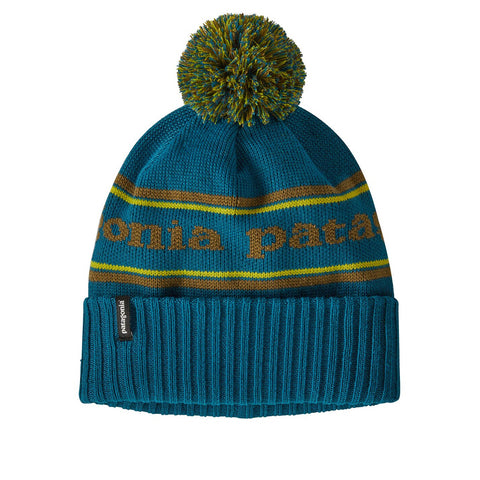 Patagonia Powder Town Stripe Beanie Crater Blue