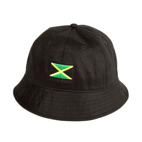 Passport Jamaica Bucket Hat Black Xlarge