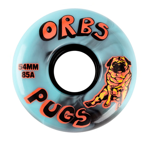 Orbs Pugs Black/Blue 85d 54mm