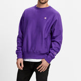 Champion Purple Pebble Reverse Weave Crew