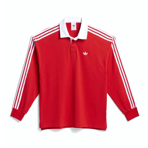 Adidas Solid Rugby Polo Red