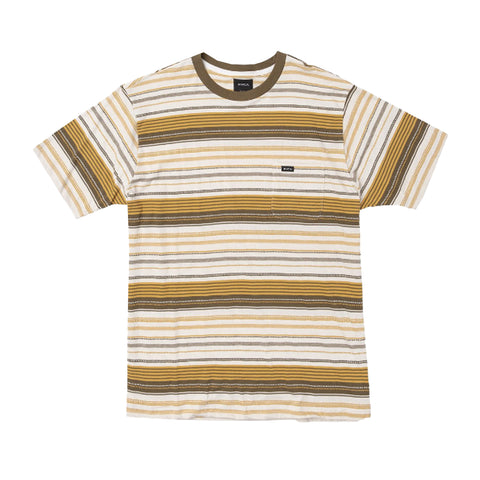 RVCA Deadbeat Stripe Tee Apricot