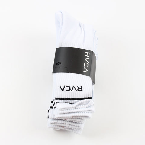 RVCA Union Sock 5 Pack White